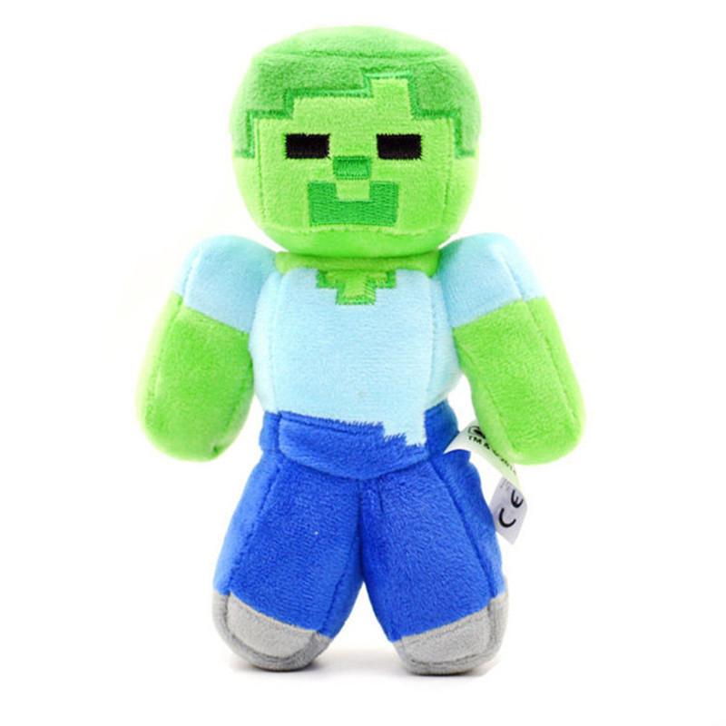 "MXM 017 Fashion Children Soft Plush Toy 18cm/7"" Minecraft Steve Creeper Zombie Ghost Soft Plush Toy Doll Xmas Gift GAME(China (Mainland))"
