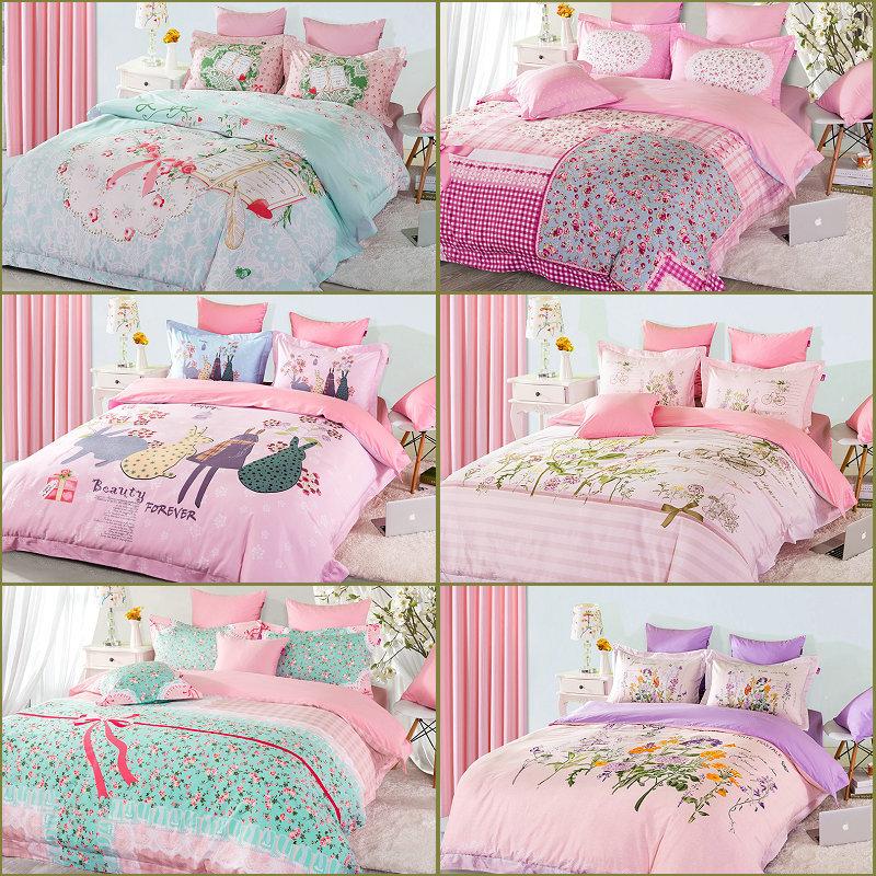 top girls princess bedclothes pure cotton cute beautiful