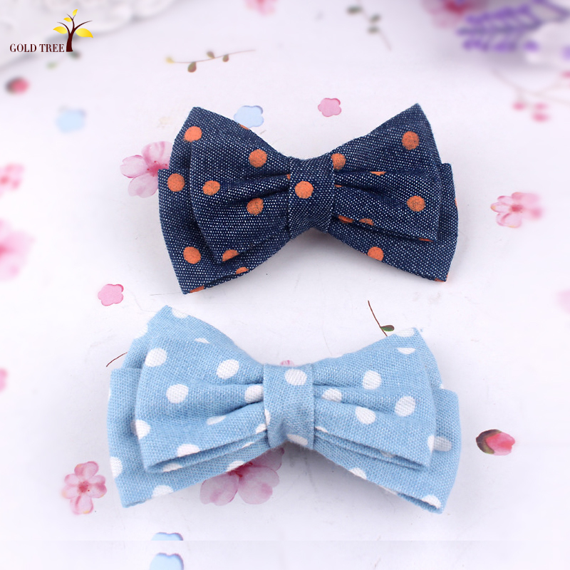 2015 of the latest hair accessories wholesale bowknot dot creative flower hair accessories Fashion hairpin beautiful girls(China (Mainland))