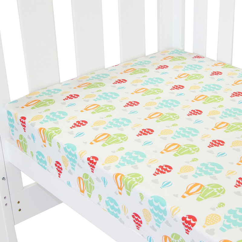 Tillyou Baby Fitted Sheet 100 Cotton Home Textile Bed
