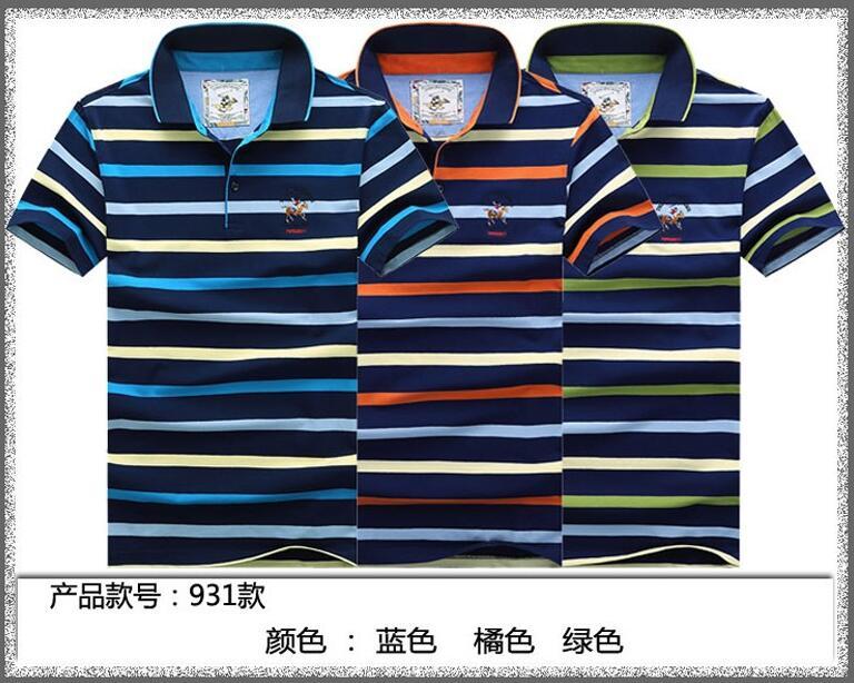 2016 summer new shark new men's short-sleeve T-shirt men's short-sleeved striped lapel compassionate Baoshan(China (Mainland))