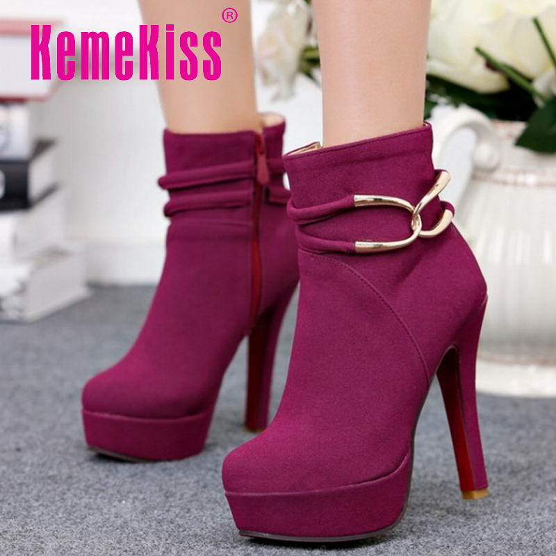 CooLcept Free shipping ankle half short boots women snow fashion winter warm footwear high heel shoes boot P15597 EUR size 32-42<br><br>Aliexpress