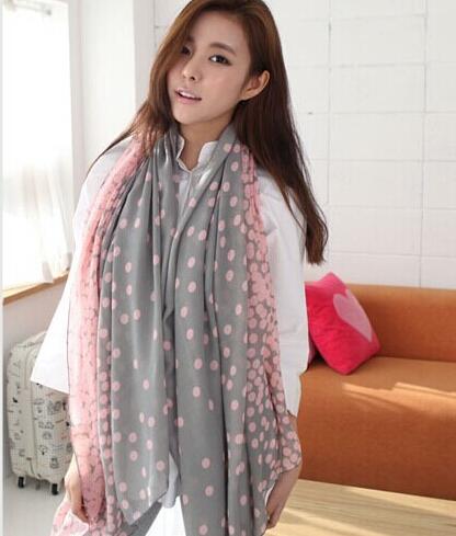 2016 женщин осень зима нью-париж пряжи шарф градиент плотности мода печатных шарфы N0044