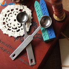 Vintage Wooden Handle Wax Spoon Stamp Sealing Wax Spoon Anti Hot Wax Spoon Gift Scoop Wax Seal