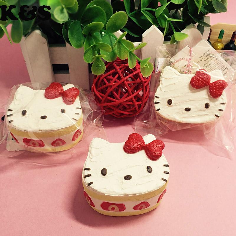 Squishy Cake Pop : Cute Hello Kitty Strawberry Cake Squishy 5pcs/lot Small Squishies Wholesale Fashion Kawaii Cell ...