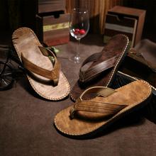 Fashion trend male flip flops summer color block decoration  slippers flip slip-resistant platform flat heel Beach shoes