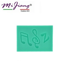 2016 Music Symbol Silicone Cake Mold Chocolate Fondant Mould for Baking Cake Decorating Tools Kitchen Accessories Wholesale S156