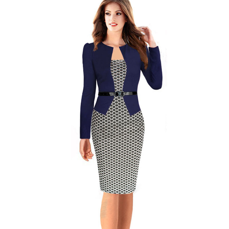 Perfect  Women Retro Elegant Dress Fashion Women39s Professional Clothing  See
