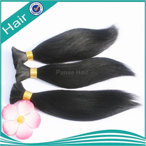 100% human straight hair bulk 24inch 100g/pcs 2pcs 1pcs for black 1pcs for blonde