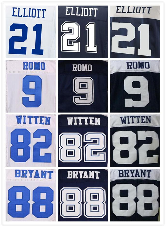 Men's 21 Ezekiel Elliott 9 Tony Romo 22 Emmitt Smith 82 Jason Witten 88 Dez Bryant elite jerseys,Size 40-56(China (Mainland))