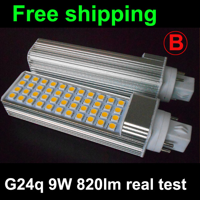 Гаджет  G24q-1 G24q-2 G24q-3 9W led G24q plc bulb lamp with 44led 5050SMD 120degeree 820lm  real test warranty 3 years Free shipping None Свет и освещение