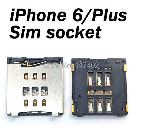 New SIM Card Slot Tray Holder Reader For iPhone6 iPhone 6 Plus high quality + Tracking number