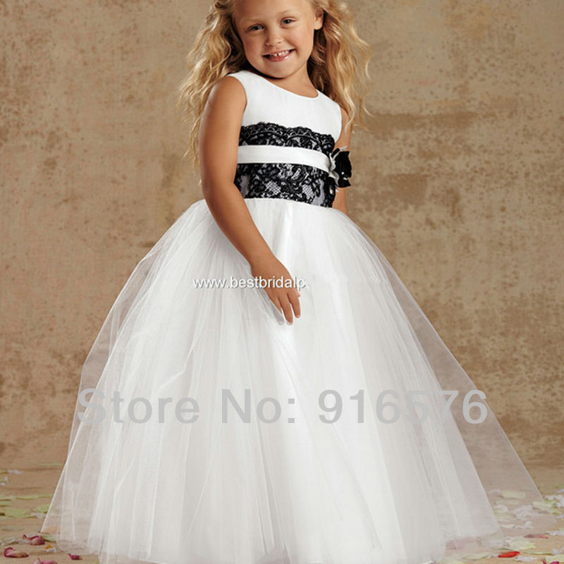 Flower girl ball gown cute dresses to wear to weddings for Wedding dresses for young girls