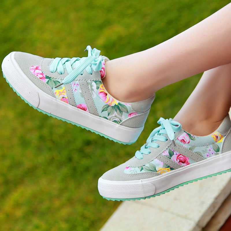 Women shoes zapatos mujer printed sneakers women sneakers huarache shoes women sneakers canvas shoes women new brand sport shoes