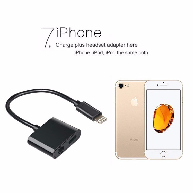 2in1 3.5 mm Type-c Charger Plus Headset Adapter For iPhone 7 7 Plus iPad
