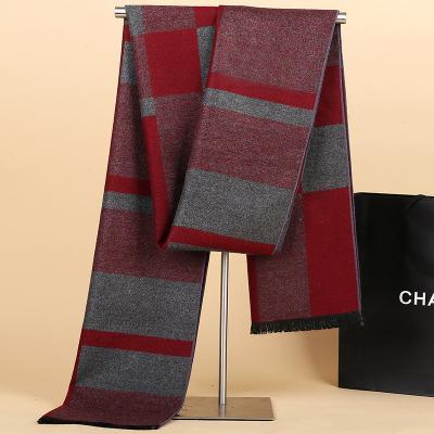 Velvet-like Geometric Scarf Smooth LongFashion Autumn Winter All-match 3 Colors