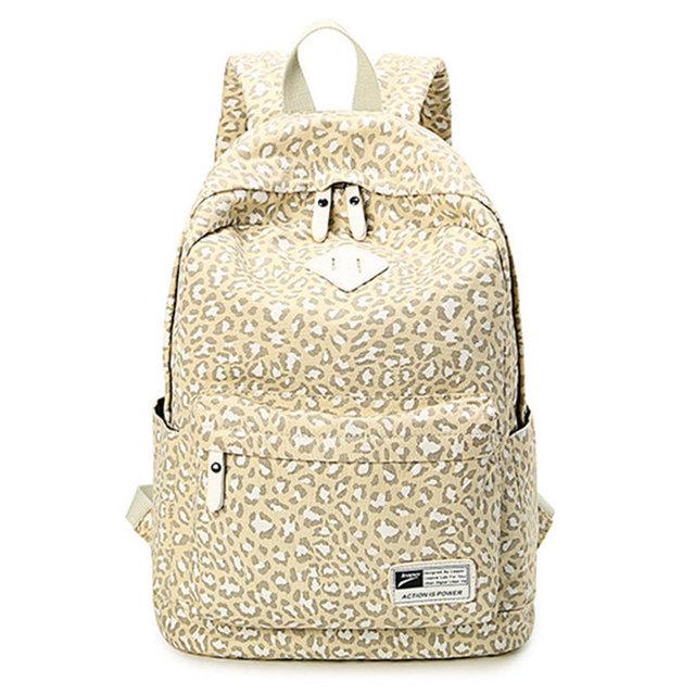 Личность мода леопарда холст школьные сумки для ноутбука рюкзаки рюкзак дорожные сумки для девочек женщины Bolsas Mochila эсколар