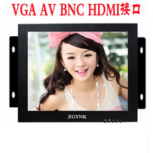 ZGYNK / 12 inch open industrial embedded monitoring metal shell VGA/AV/BNC/HDMI security LCD The monitor(China (Mainland))