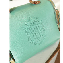 2015 Women Messenger Bags Imperial Crown Pricnt Crossbod Bag Pu Leather Ladies Handbags Vintage Women Shoulder