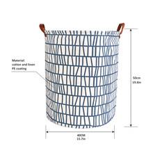 1 Pza cesta de lavandería plegable bolsa de almacenamiento redonda cesta grande ropa plegable cesta de juguete organizador de cubo de gran capacidad(China)