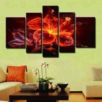 The flame flower  Oil Painting On Canvas ,Large Modern Canvas Oil Painting Wall Art , Worldwide dy-160