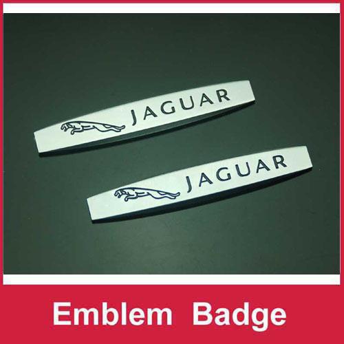 2pcs Set B327 Car Emblem Badge Decal Sticker Side Fender Metal JAGUAR XF XJ XJS XK S-TYPE X-TYPE(China (Mainland))