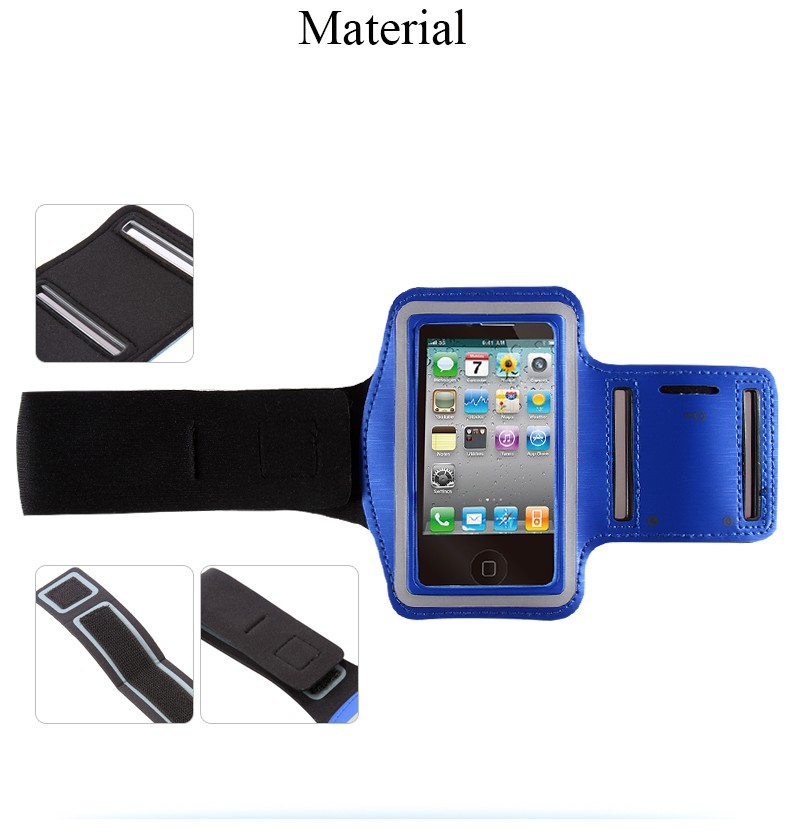 Waterproof Gym Sport Running Arm Band Pouch Case For Apple iPhone 4 4S Adjustable PU Leather Workout Mobile Phone Bags CoverBelt