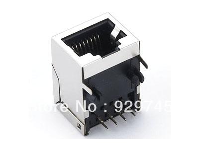 20pcs RJ45 Modular Network PCB Jack 8P LAN Connector(China (Mainland))