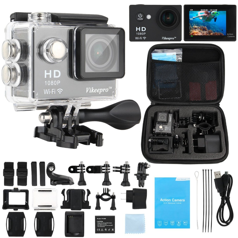 Gopro hero4 Camera style Sport Action Camera 2inch Waterproof Video WIFI Cam 12MP 1080P 2.4G RF Remote 2 PCS battery SJ5000(China (Mainland))