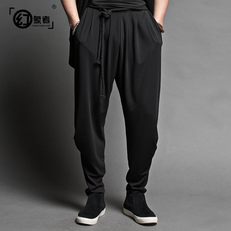 2015 NEW fashion brand summer men pants balck male harem pants men casual loose harem pants cotton(China (Mainland))