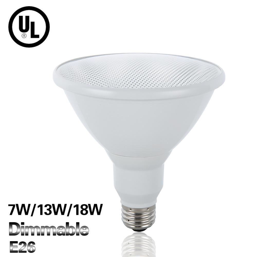 E26 Led Lamp Full 7W 13W 18W Bulb Lighting AC110V Par20 / Par30 / Par38 Bombillas Led UL Certification High Quality Home Lights(China (Mainland))