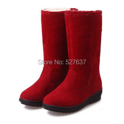 Fashion Women Snow Boots Faux Fur Womens Ankle Boots Casual Comfort Work Wear Ladies Winter Boots Shoes(China (Mainland))