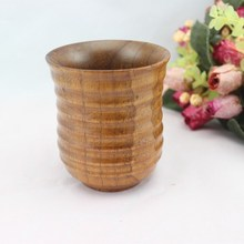 High Quality Wooden teacup coffee cup Tea Set 5piece set Free Shipping