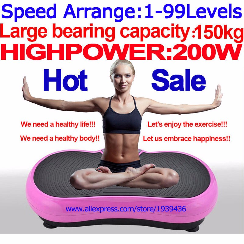 Massage Vibration Exercise Machine Vibrating Plate Vibrator of Weight Loss Mini Power Fit Mat Crazy Body Slimming Fitness Device(China (Mainland))