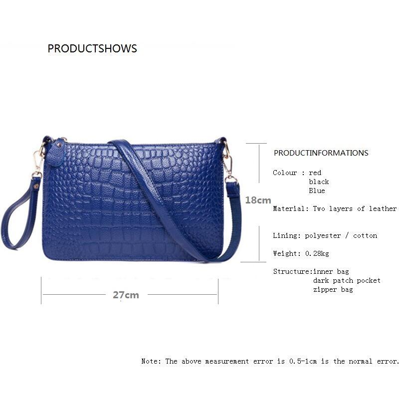 Crocodile Genuine Leather Bag Fashion Elegant Women Handbag Shoulder  Messenger Bag Day Clutch 2016 new Designer Bolsas FemininasUSD 13.30 piece  ... 2085c5172e