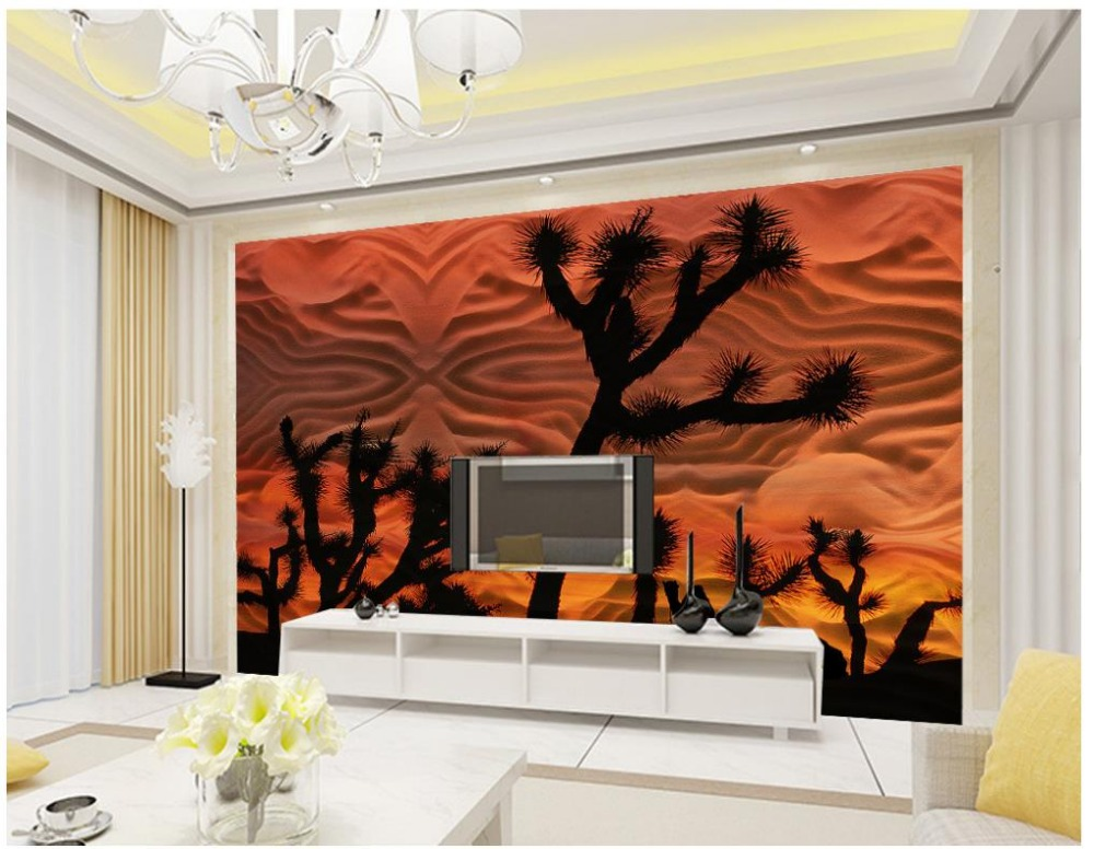 3d murals living room entrance mural wallpaper sandstone for Desert mural wallpaper