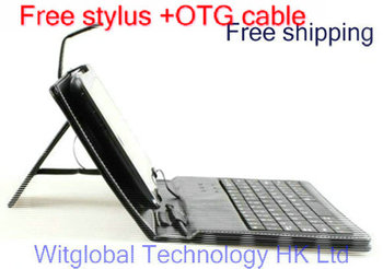"9.7"" O+ 9.7 9.76 PAD / MSI Primo 91 90 Tablet Stand USB Keyboard Leather Case +Stylus +OTG adapter Free Shipping"