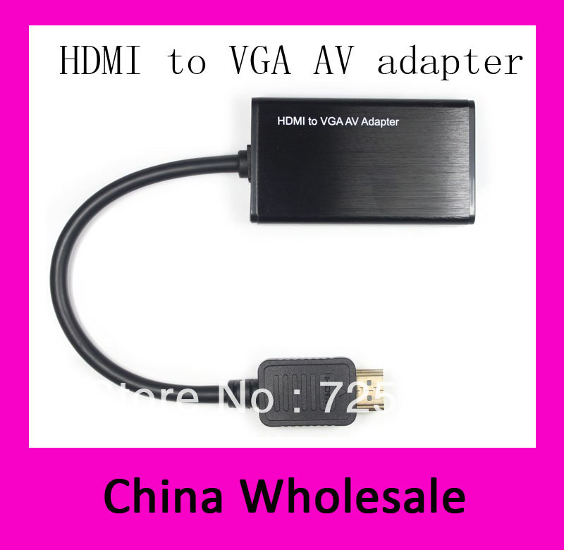 HOT HDMI to VGA AV Adapter 1080P AV connecter up to Video Converter Audio Cable for DVD HDTV Tablet PC+free/drop shipping+10PCS(China (Mainland))