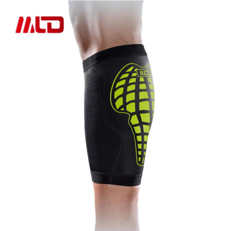 MLD Breathable Polyester nylon leg sleeve compression kneepad Basketball Calf Stretch Brace Sport Bandage Leg Support Protector(China (Mainland))