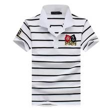 Classic style Men's Fashion Short Sleeve 2016 Summer Tee & Tops Cotton striped POLO shirt Slim Fit Casual camisa Tee Shirts
