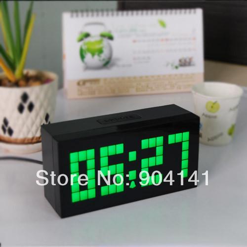 Chihai 1st Generation Electronic Clock Home Decor Clock Alarm Digital LED Display Temperature Date Green 4-5 digits(China (Mainland))
