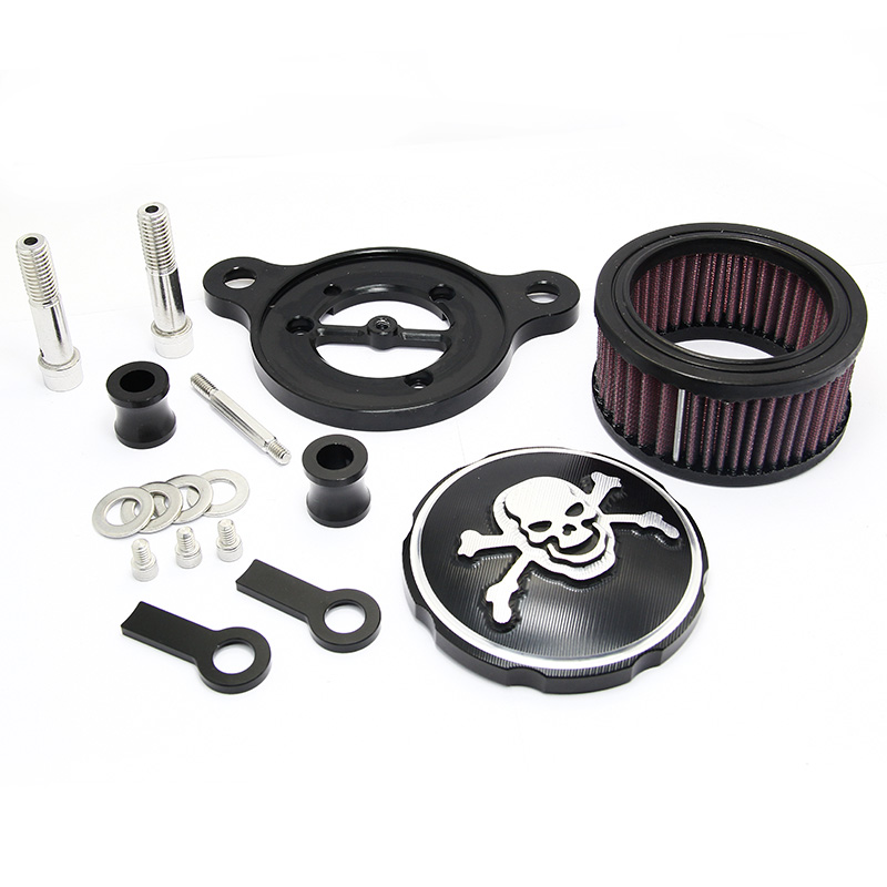 New Replacement Pirate Air Cleaner Intake Filter System Kit Harley Sportster 883 1200 1988-2015 Free Shipping(China (Mainland))
