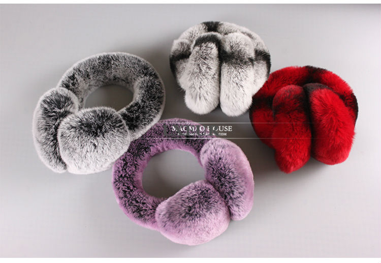 2016 New High Quality Unisex Real Rex Rabbit Fur Earmuffs Womens Real Fur Ear Warmer Winter Kids Warm Earmuffs LX00774(China (Mainland))