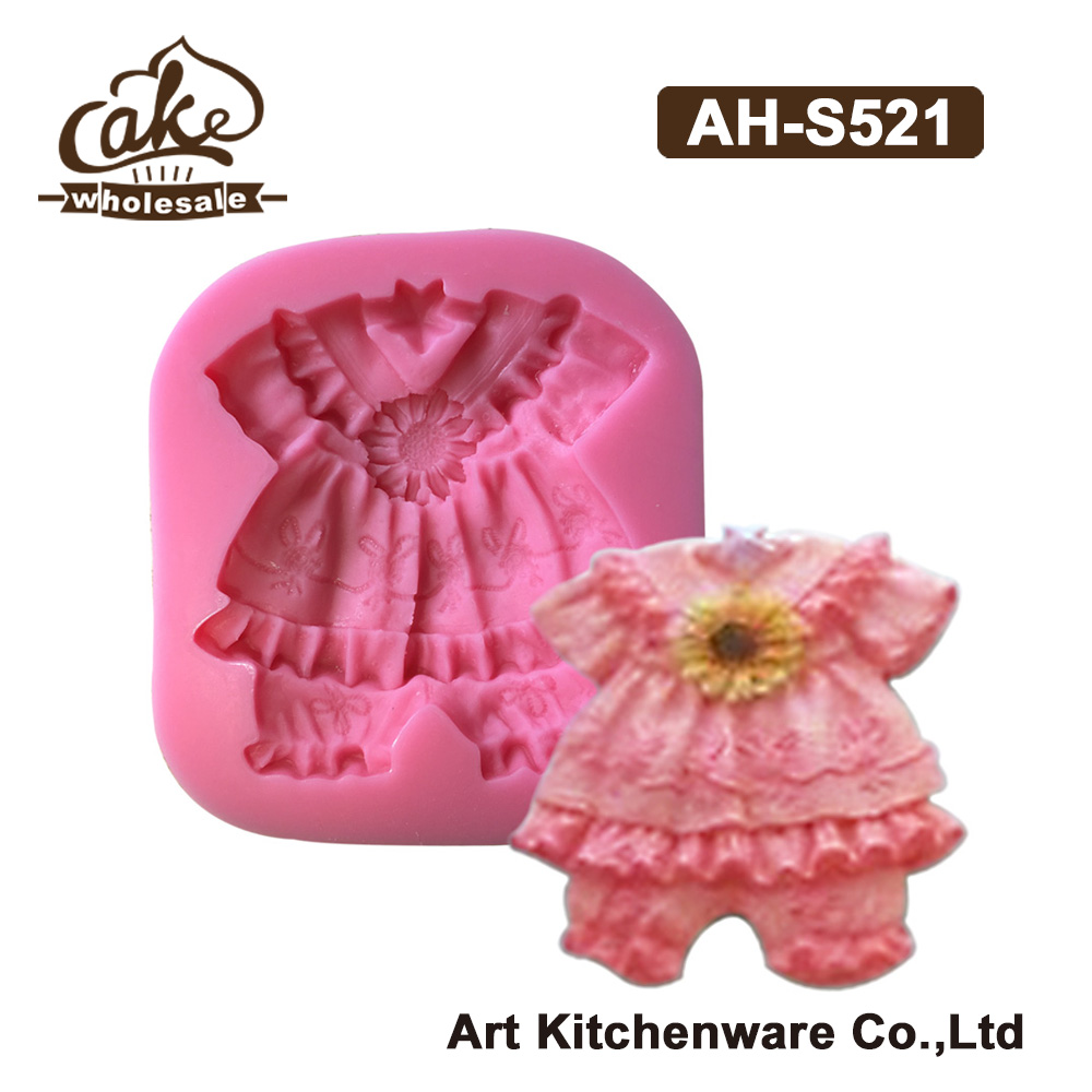 New Arrival Baby Clothes Silicone Design Cake Molds for Decorations,Silicone Mold Fondant 3D Soap Molds Sugarcraft Tools AH-S513(China (Mainland))