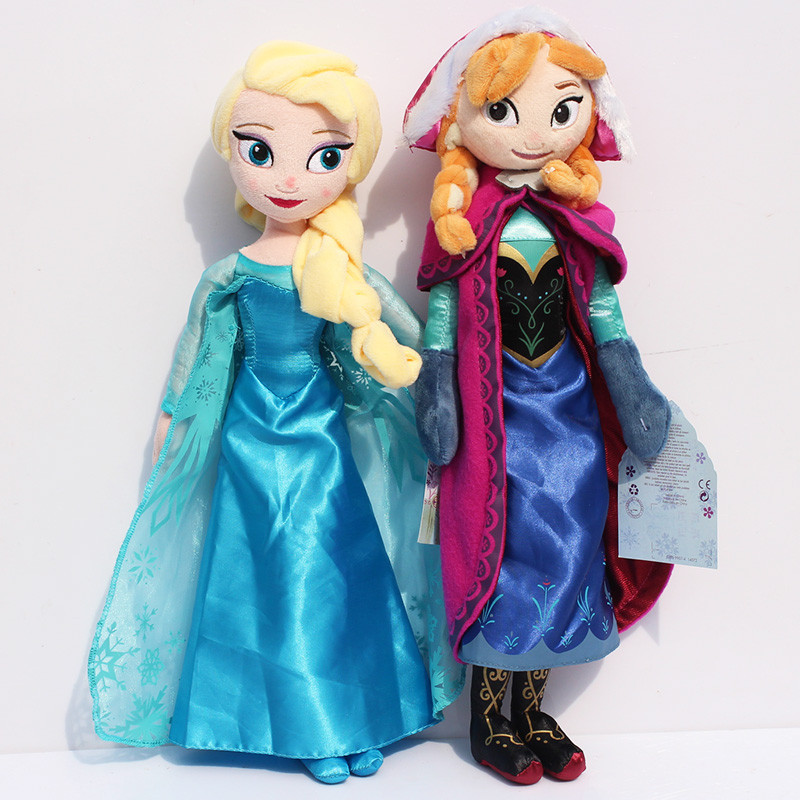 1pcs 40cm Princess Elsa Anna Plush Toys Doll Elsa Plush Anna Plush Doll Toy Soft Stuffed Toys Brinquedos Gifts for Kids Girls