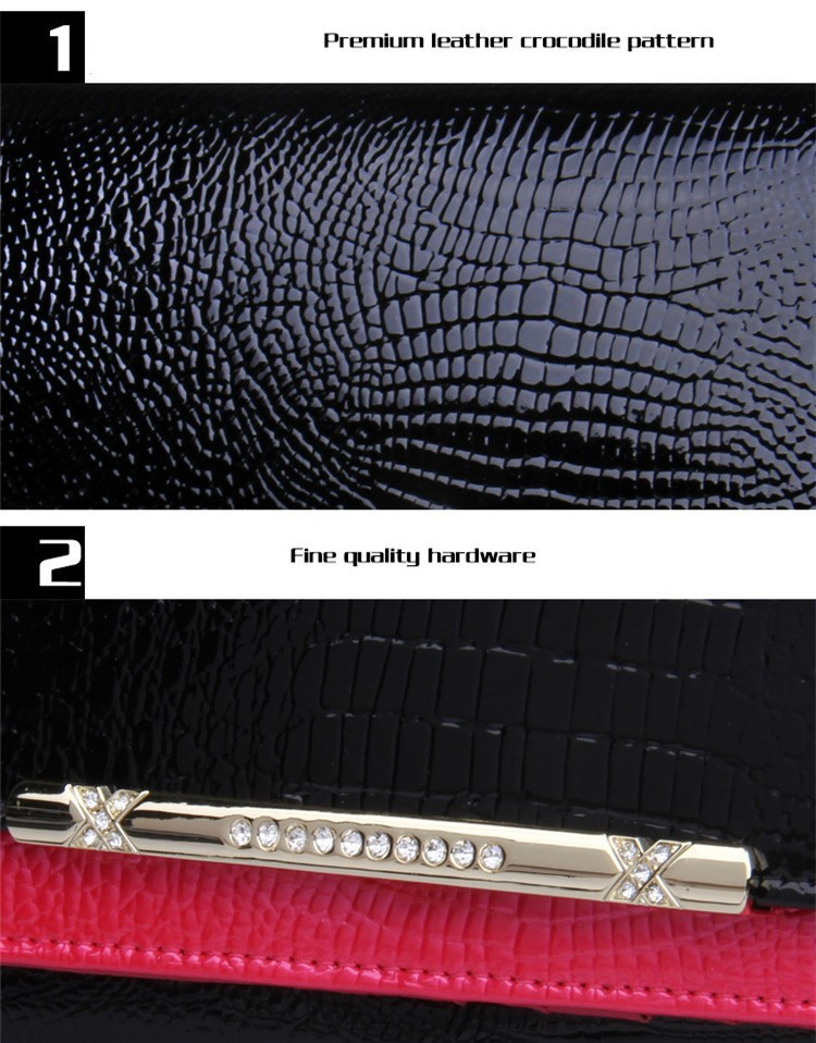 Luxury crocodile women wallets genuine leather high for High couture brands