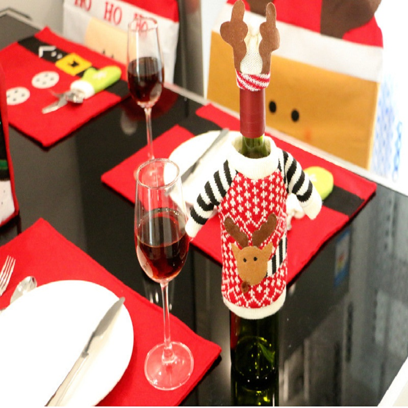 Sweater christmas stockings promotion shop for promotional Wine shop decoration