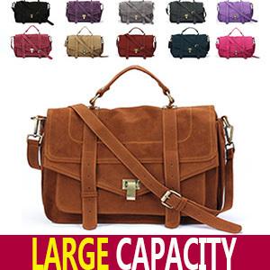 10 Colors! Celebrity Jessica Alba Brand  Women Fashion Suede Leather Quality Crossbody Satchel Messenger Bag 2014 Promotion *