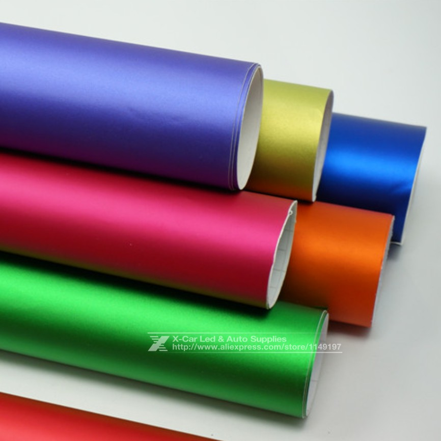 New 152*30CM Polymeric PVC Matte Chrome Vinyl Car Wraps Sticker Color Changing Car Sticker With Air Bubble Car Styling(China (Mainland))