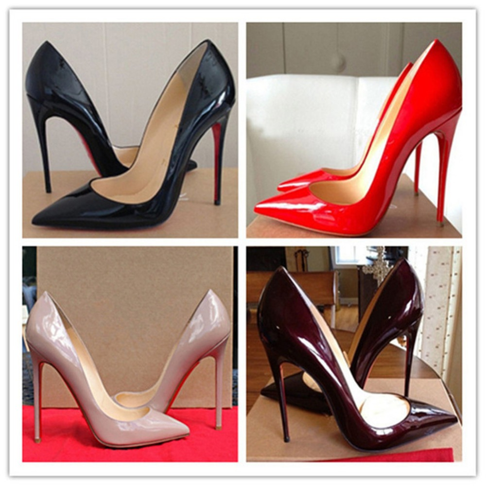 Гаджет  Red Bottom High Heels Brand shoes Women Paint Leater Shoes Sexy Pointed Stiletto High Heels Women